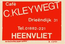 LD2017. Café C. Kleywegt.