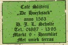 LD2019. Café Slijterij De Hoecksack, anno 1563 - met uniek terras.
