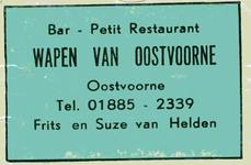 LD2026. Bar, petit restaurant Wapen van Oostvoorne.