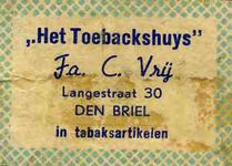 LD2033. Het Toebackshuys - in tabaksartikelen.