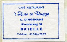 SZ0143. Cafe, restaurant 't Huis te Rugge.