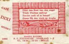 SZ0161. Cafe, annex slijterij Dixi.