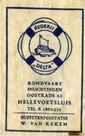SZ0525. Rederij Delta - Rondvaart, inlichtingen - buffetexploitatie: W. van Kekem.