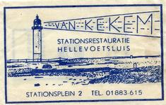 SZ0530. Van Kekem, stationsrestauratie.