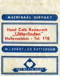 SZ0546. Hotel Café Restaurant 'Uitterlinden'.
