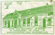SZ0604. Hotel, Café, Restaurant De Kroon.