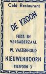 SZ0611. Café, Restaurant De Kroon - feest en vergaderzaal.