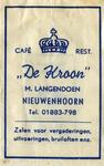 SZ0612. Café, Restaurant De Kroon - zalen voor vergaderingen, uitvoeringen, bruiloften enz..