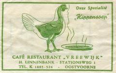 SZ0925. Café, Restaurant Vreewijk - onze specialiteit: kippensoep.