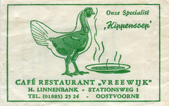 SZ0926. Café, Restaurant Vreewijk - onze specialiteit: kippensoep.
