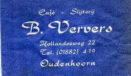 SZ1001. Café, Slijterij B. Ververs.