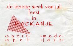 SZ1138. De laatste week van juli feest in Rockanje : sport, spel, mode, jazz.