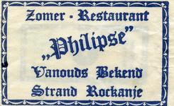 SZ1141. Zomer-restaurant Philipse - vanouds bekend.