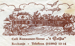 SZ1151. Café, Restaurant, Terras 't Golfie.