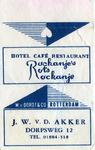 SZ1159. Hotel, Café, Restaurant Rockanje's Rots.