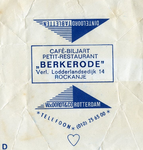 SZ1162. Café Biljart Petit-Restaurant Berkenrode.