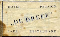 SZ1168. Hotel pension café restaurant De Dreef.