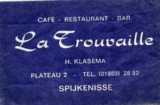 SZ1402. Café, Restaurant, Bar La Trouvaille.