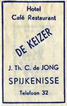SZ1406. Hotel, Café, Restaurant De Keizer.