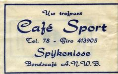 SZ1415. Café Sport - Uw trefpunt - bondscafé ANWB.