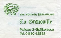 SZ1418. Bar, Bodega, Restaurant La Grenouille.