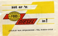 SZ1429. V.E.G.E. N.V. Spijkenisse : Zet er 'n Fort Diesel in!.