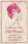 SZ1434. Dameskapsalon 'Het Plateau'.