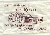 SZ1436. Petit Restaurant De Krom - hartje Spijkenisse.