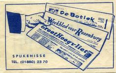 SZ1437. De Botlek, Weekblad voor Rozenburg en Groot Hoogvliet.