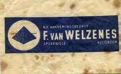 SZ1447. N.V. aannemingsbedrijf F. van Welzenes.