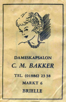 SZ0170. Dameskapsalon C.M. Bakker.