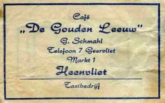 SZ0313. Café De Gouden Leeuw - taxibedrijf.