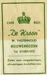 SZ0615. Café, Restaurant De Kroon - zalen voor vergaderingen, uitvoeringen, bruiloften enz..