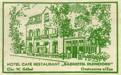 SZ0945. Hotel Café Restaurant Badhotel Duinoord.