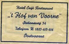 SZ0946. Hotel Café Restaurant 't Hof van Voorne.
