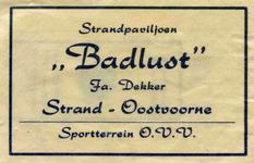 SZ0948. Strandpaviljoen Badlust, sportterrein OVV.