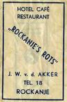 SZ1166. Hotel Café Restaurant Rockanje's Rots.