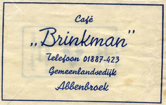 SZ0002. Café Brinkman.
