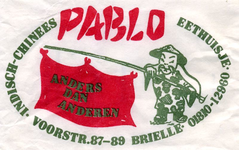 SZ0127. Indisch-Chinees eethuisje Pablo.