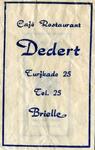 SZ0129. Café, restaurant Dedert.