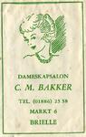 SZ0147. Dameskapsalon C.M. Bakker.