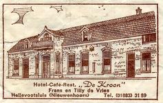 SZ0603. Hotel, Café, Restaurant De Kroon.