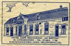 SZ0606. Hotel, Café, Restaurant De Kroon.