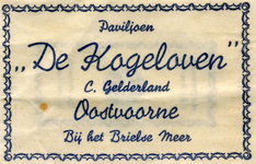 SZ0905. Paviljoen 'De Kogeloven' (bij het Brielse Meer).