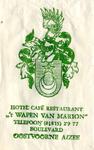 SZ0909. Hotel, Café, Restaurant 't Wapen van Marion.