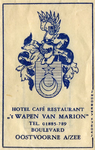 SZ0917. Hotel, Café, Restaurant 't Wapen van Marion.