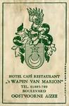 SZ0918. Hotel, Café, Restaurant 't Wapen van Marion.