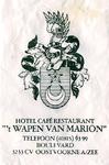 SZ0919. Hotel, Café, Restaurant 't Wapen van Marion.