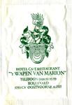 SZ0938. Hotel, Café, Restaurant 't Wapen van Marion.