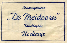 SZ1115. Consumptietent De Meidoorn.